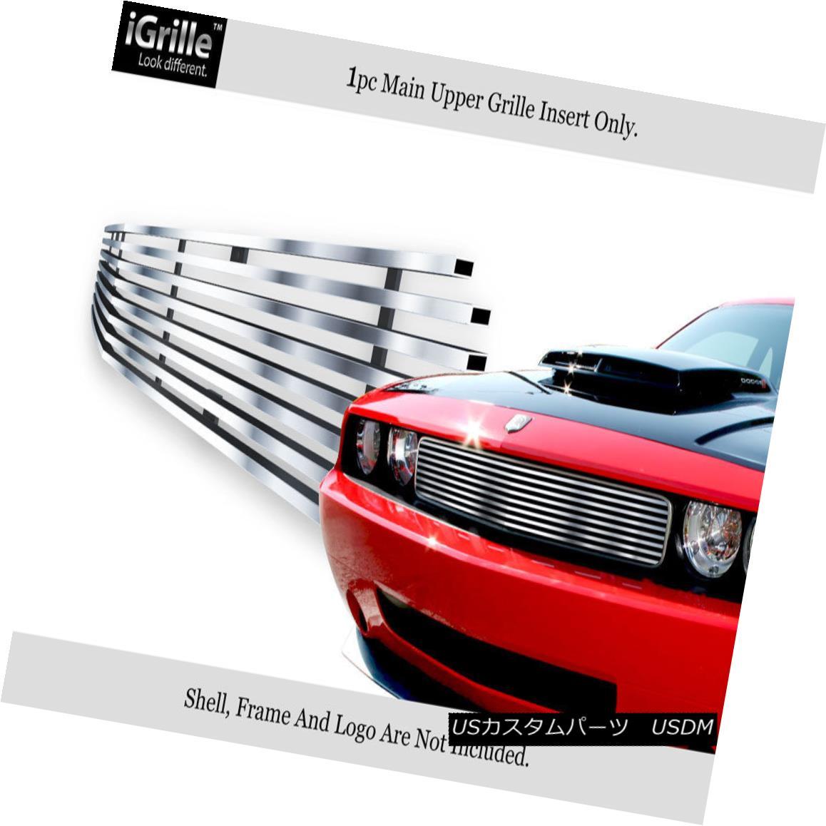 グリル For 2009-2014 Dodge Challenger Stainless Steel Billet Grille Grill Insert 2009-2014年ダッジチャレンジャーステンレス鋼ビレットグリルグリルインサート