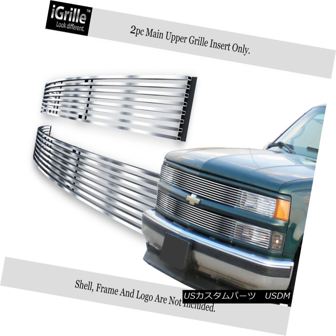 グリル Fits 1994-1999 C/K Pickup/Suburban/Blazer/Tahoe Phantom Stainless Billet Grille フィット1994-1999 C / Kピックアップ/サバーバ n /ブレイザー/タホファントムステンレスビレットグリル