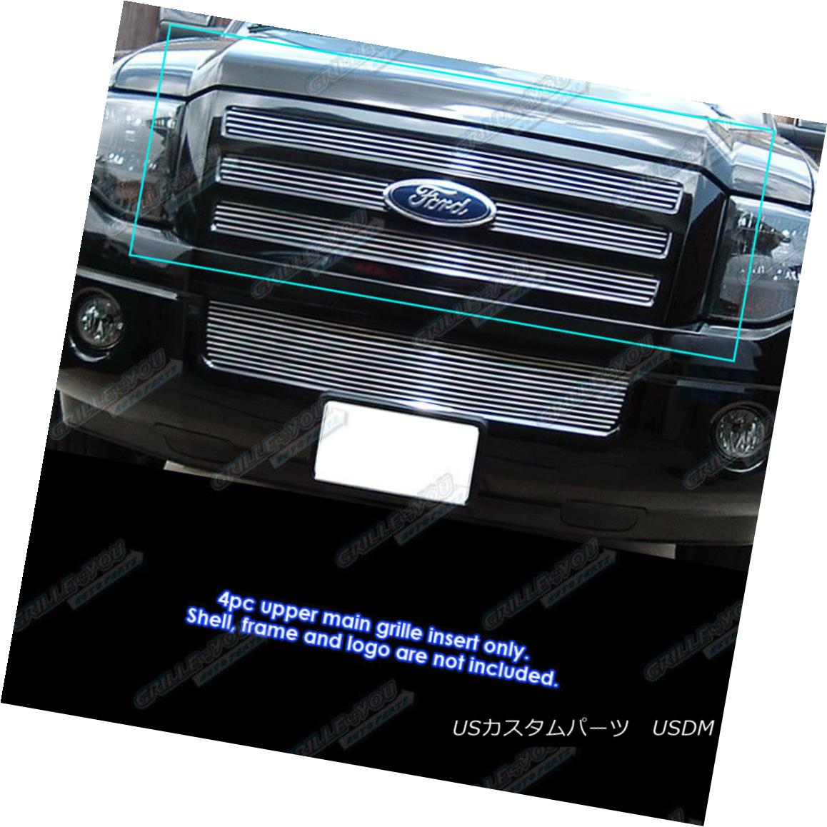 グリル Fits 2007-2014 Ford Expedition Main Upper Billet Grille Grill Insert 2007?2014 Ford Expeditionメインアッパービレットグリルグリルインサート