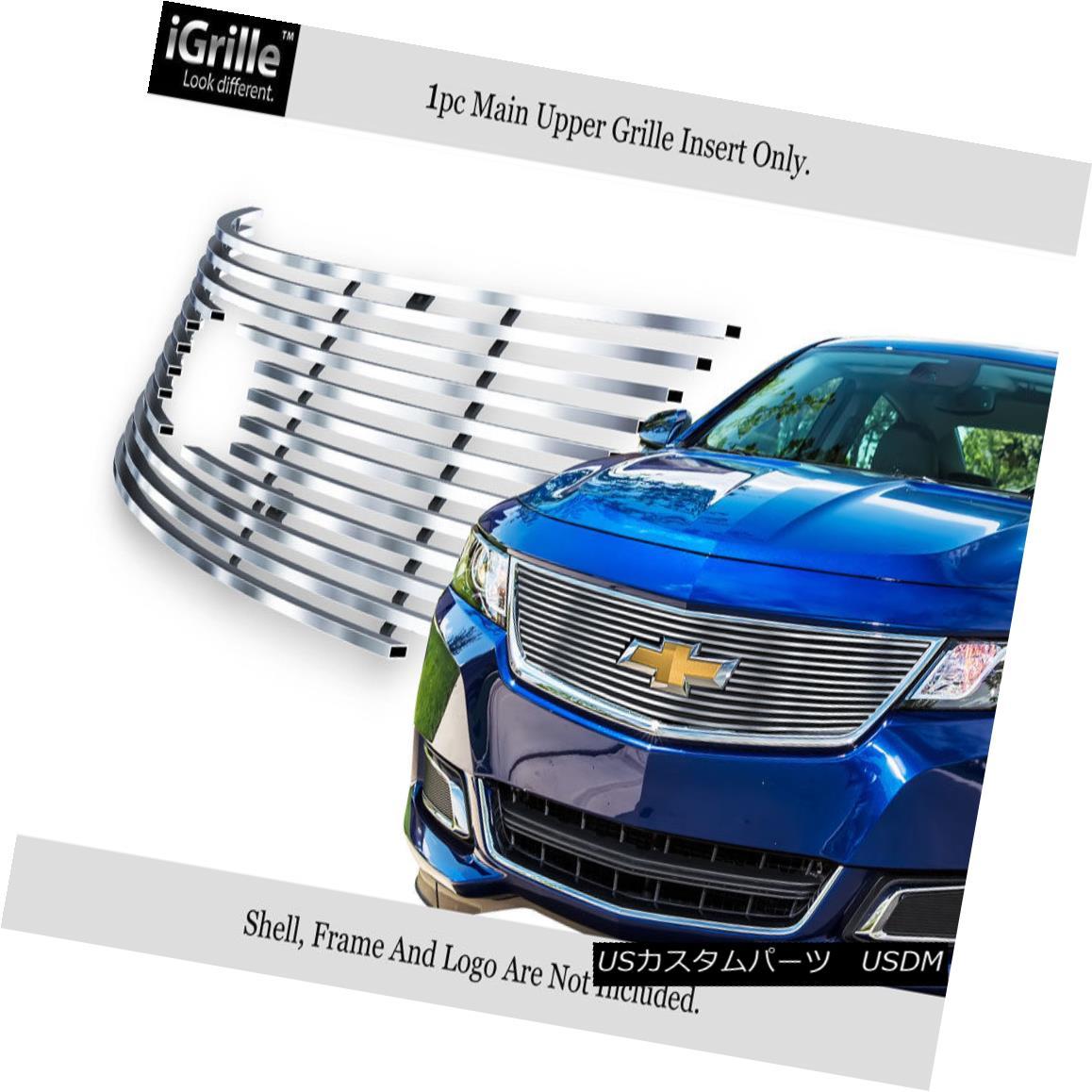 グリル For 2014-2018 Chevy Impala Logo Show Stainless Steel Upper Billet Grille 2014-2018シボレーインパラロゴショーのためのステンレス鋼アッパービレットグリル