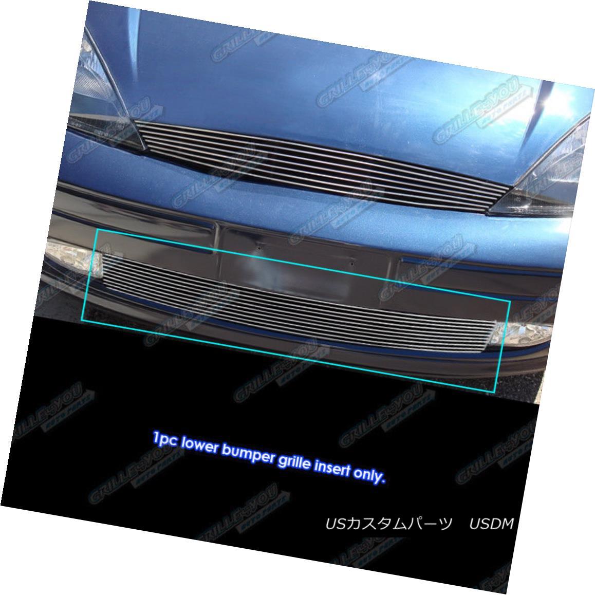 グリル Fits 1998-2004 Ford Focus Lower Bumper Billet Grille Grill Insert フィット1998-2004フォードフォーカスロワーバンパービレットグリルグリルインサート
