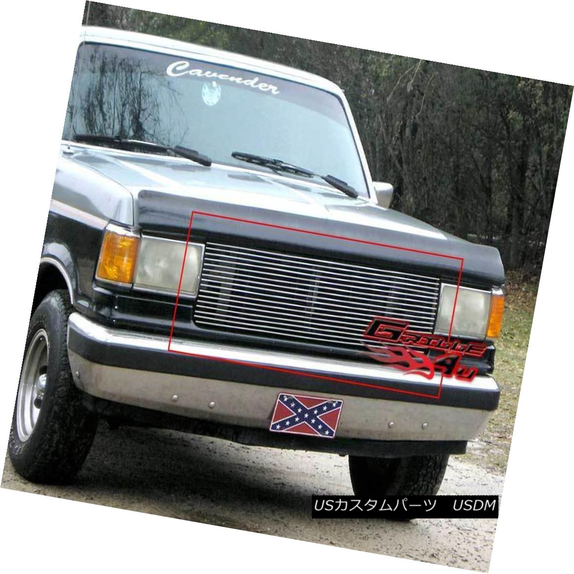 グリル Fits 87-91 Ford Bronco/F-Series Pickup Main Upper Billet Grille Insert フィット87-91 Ford Bronco / F-Serie sピックアップメインアッパービレットグリルインサート