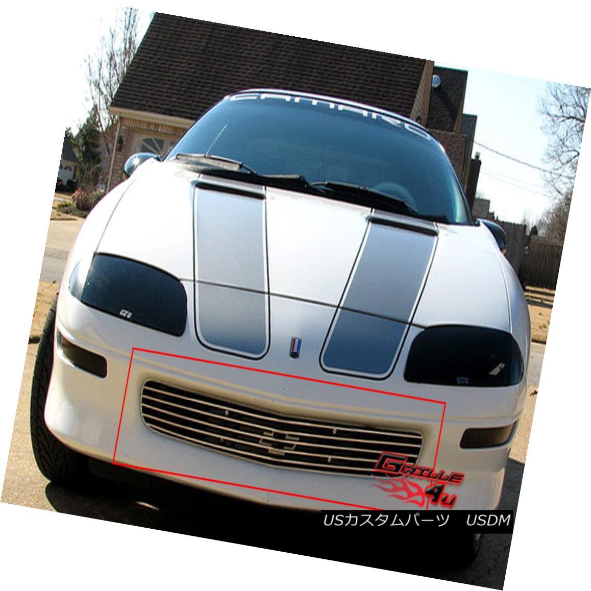 グリル Fits 93-97 Chevy Camaro Main Upper Billet Grille Insert フィット93-97 Chevy Camaroメインアッパービレットグリルインサート