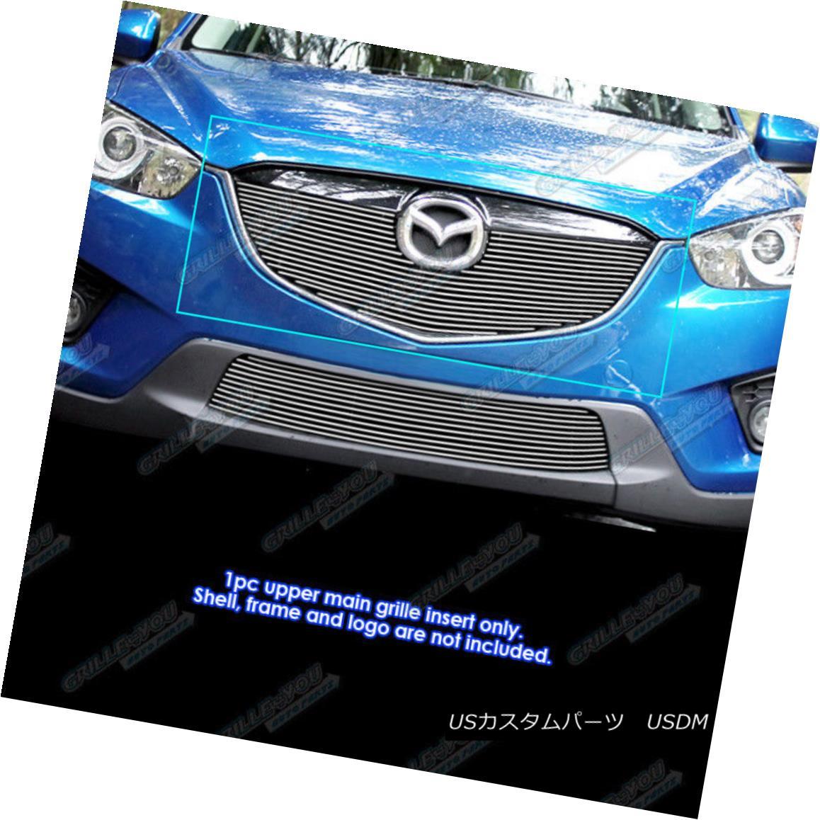 グリル Fits 2012-2015 Mazda CX-5 Upper Main Upper Billet Grille Inserts フィット2012-2015マツダCX - 5上部メインアッパービレットグリルインサート