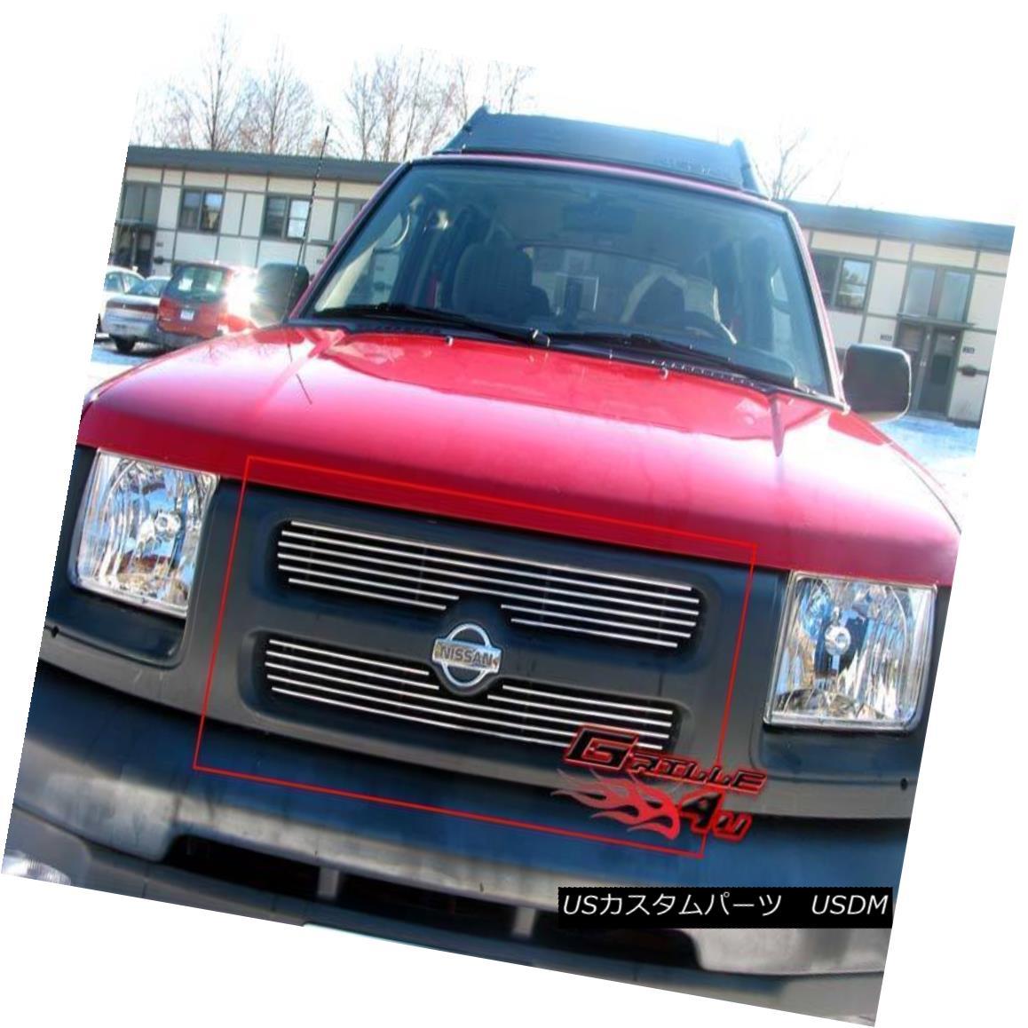 グリル Fits 2000-2001 Nissan Xterra Main Upper Billet Grille Insert 2000-2001 Nissan Xterraメインアッパービレットグリルインサート