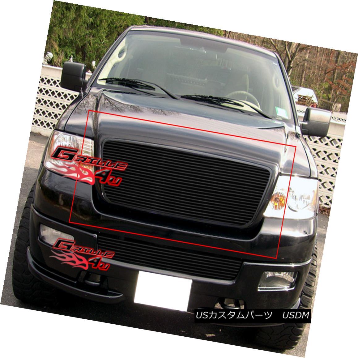 グリル Fits 2004-2008 Ford F-150 Honeycomb Style Black Billet Grille Insert フィット2004-2008フォードF - 150ハニカムスタイルブラックビレットグリルインサート