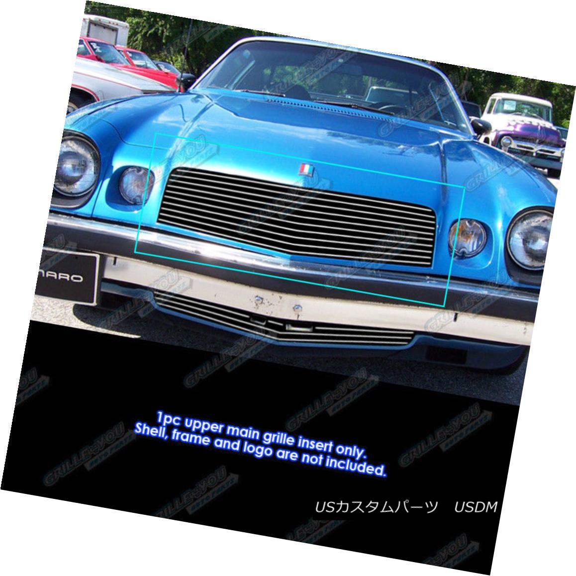 グリル Fits 1974-1977 Chevy Camaro Upper Billet Grille Grill Inserts フィット1974-1977シボレーカマロアッパービレットグリルグリルインサート