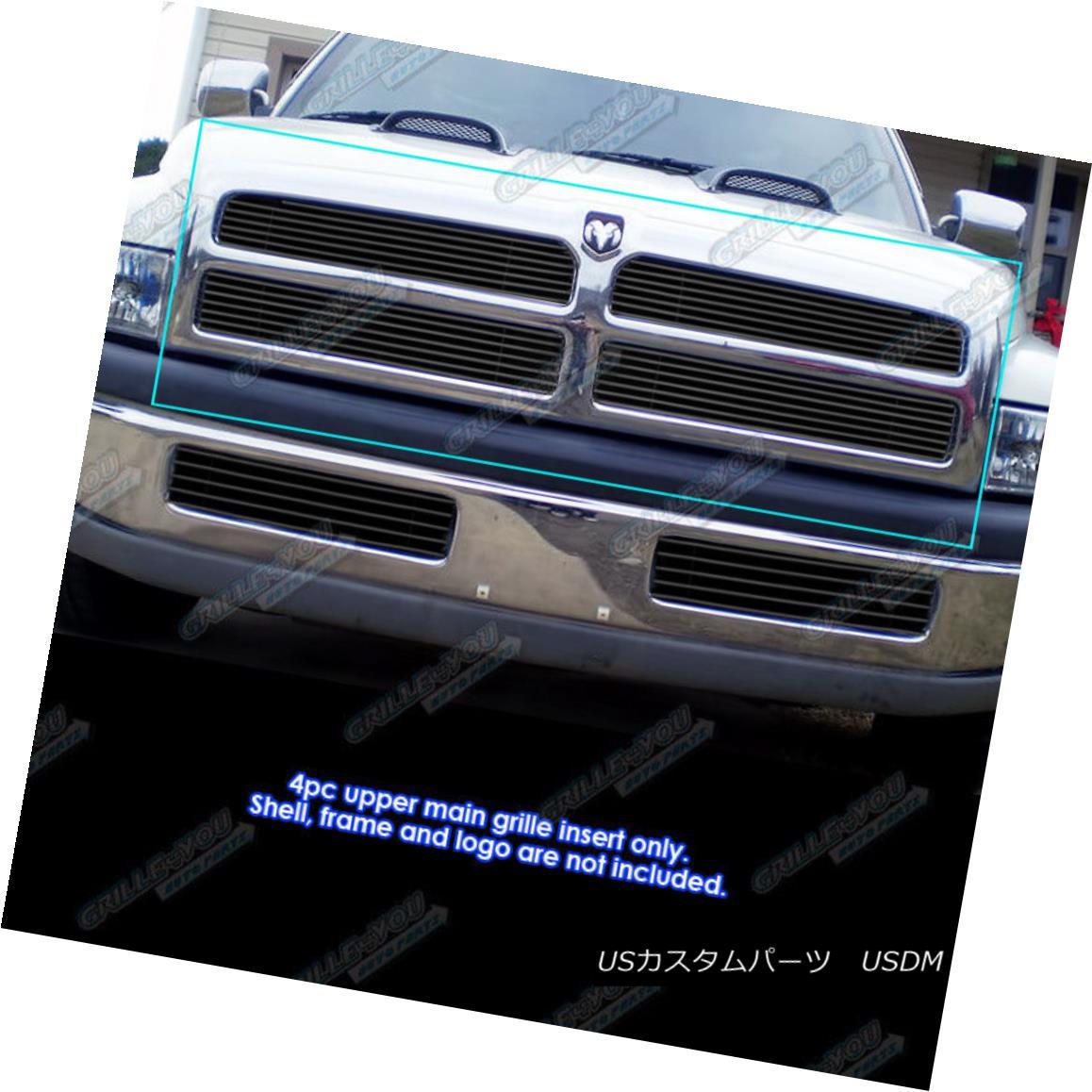 グリル Fits 1994-2001 Dodge Ram regular model Black Billet Grille Grill Insert 1994-2001 Dodge Ram正規モデルブラックビレットグリルグリルインサート