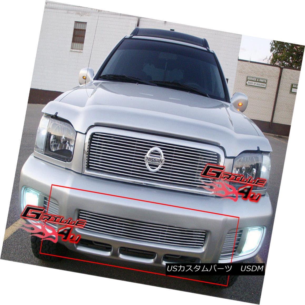 グリル Fits 99-04 Nissan Pathfinder Lower Bumper Billet Grille Grill Insert フィット99-04日産パスファインダーロワーバンパービレットグリルグリルインサート