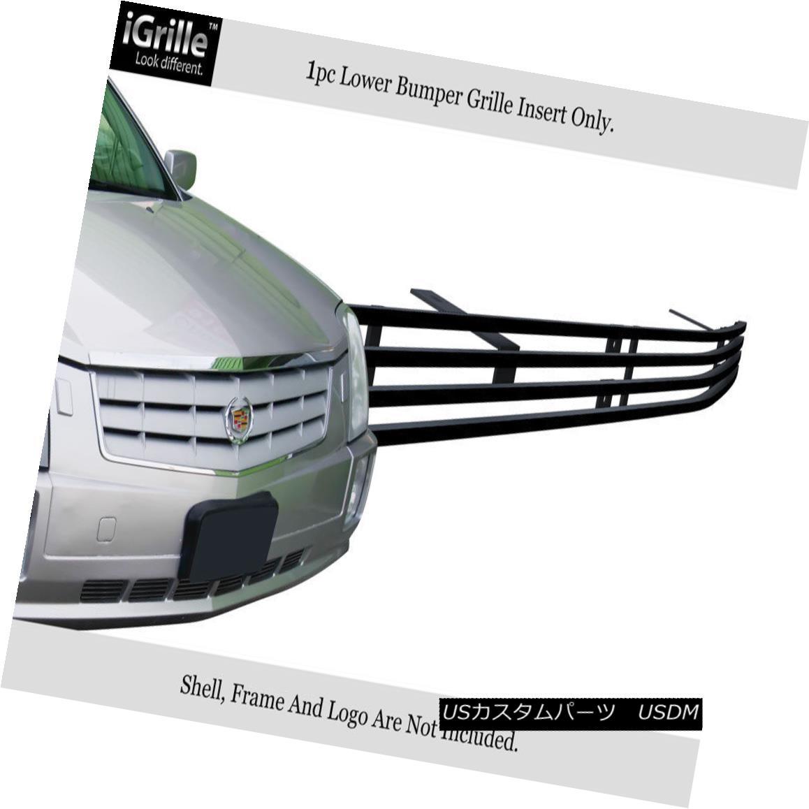 グリル Fits 2005-2009 Cadillac SRX Bumper Black Stainless Steel Billet Grille Insert 適合2005-2009キャデラックSRXバンパー黒ステンレス鋼ビレットグリルインサート