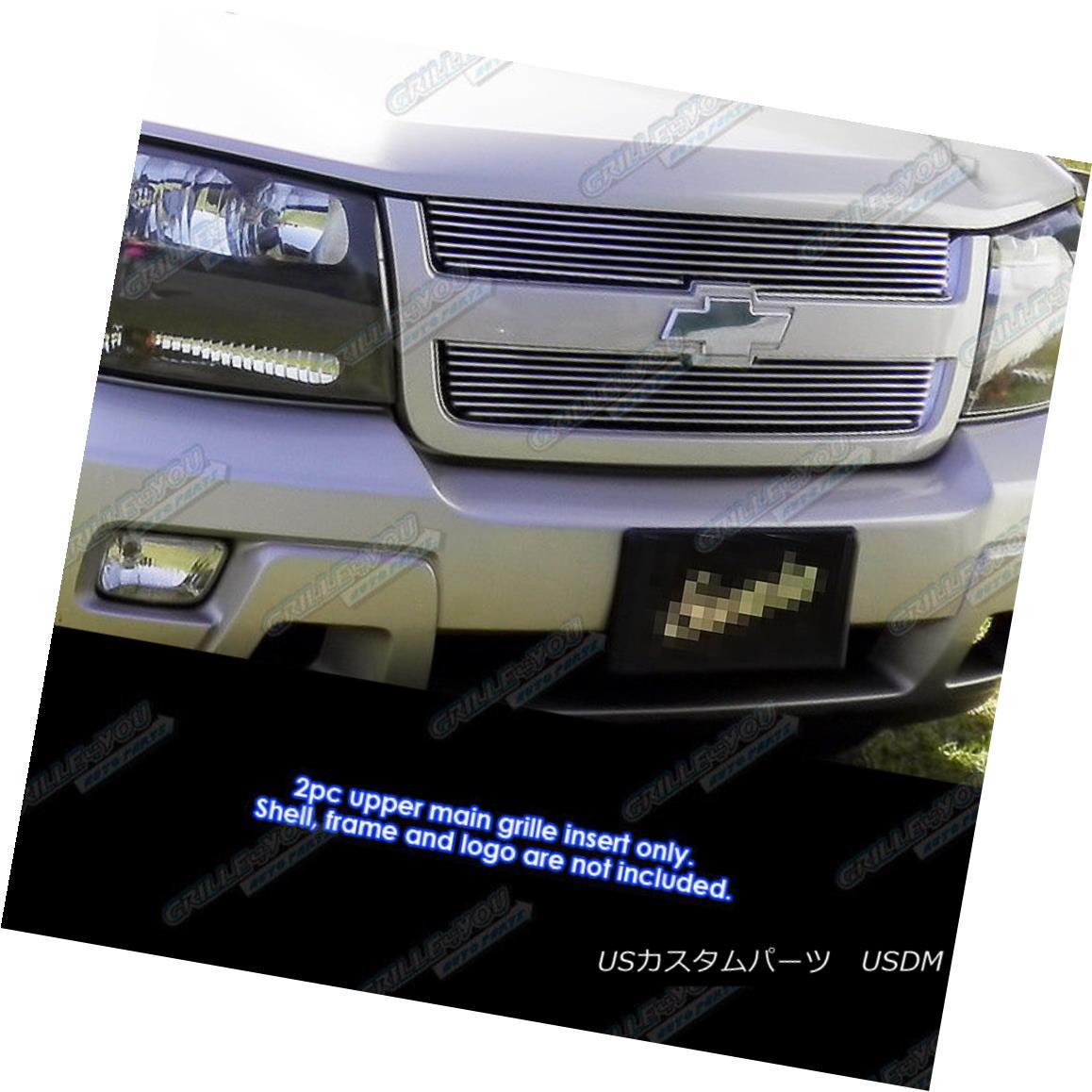 グリル Fits 2006-2009 Chevy Trailblazer LT Main Upper Billet Grille Insert フィット2006-2009シボレートレイルブレイザーLTメインアッパービレットグリルインサート