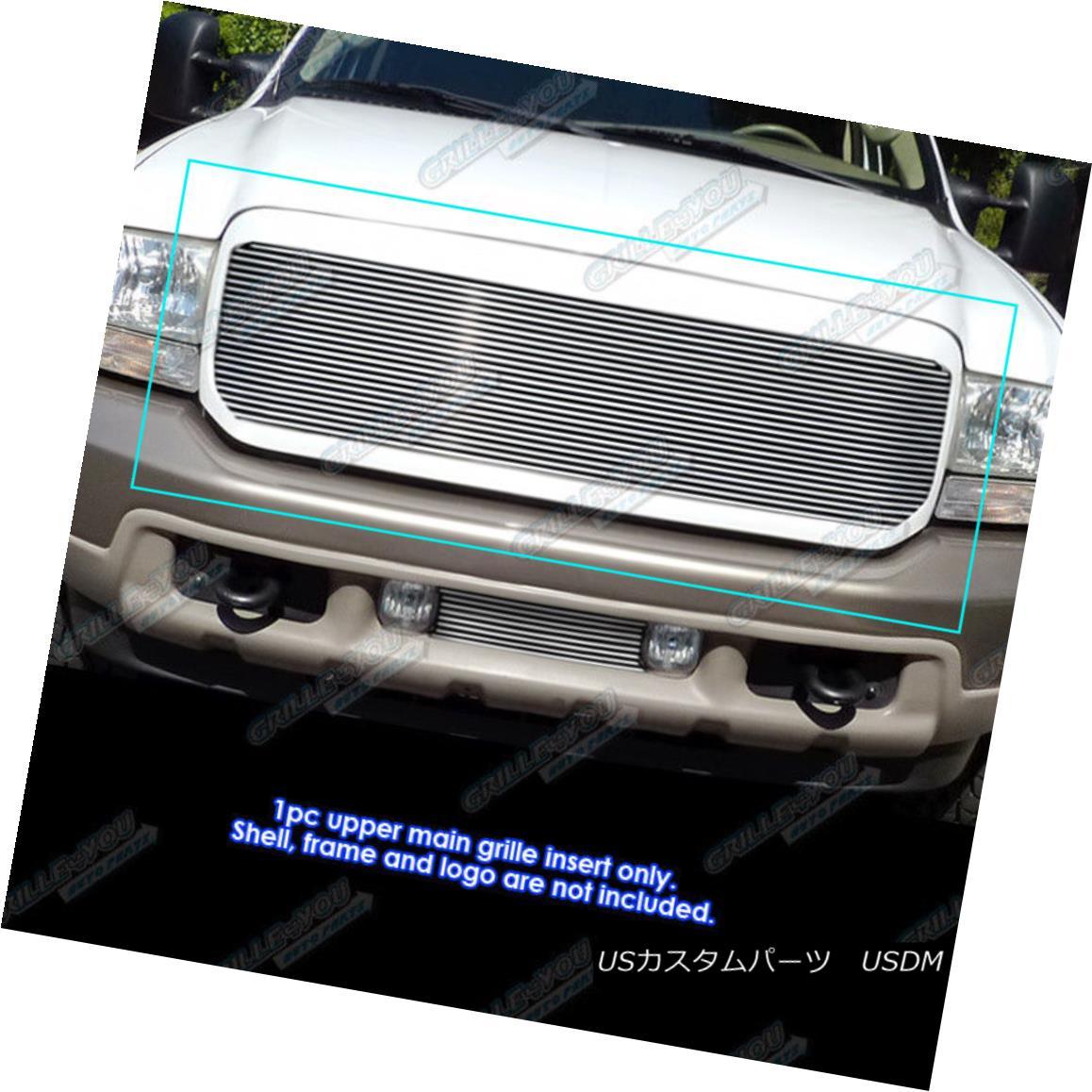 グリル Fits 99-04 Ford F250/F350 Super Duty/Excursion Main Upper Billet Grille フィット99-04 Ford F250 / F350スーパーデューティ/エクスカーションメインアッパービレットグリル