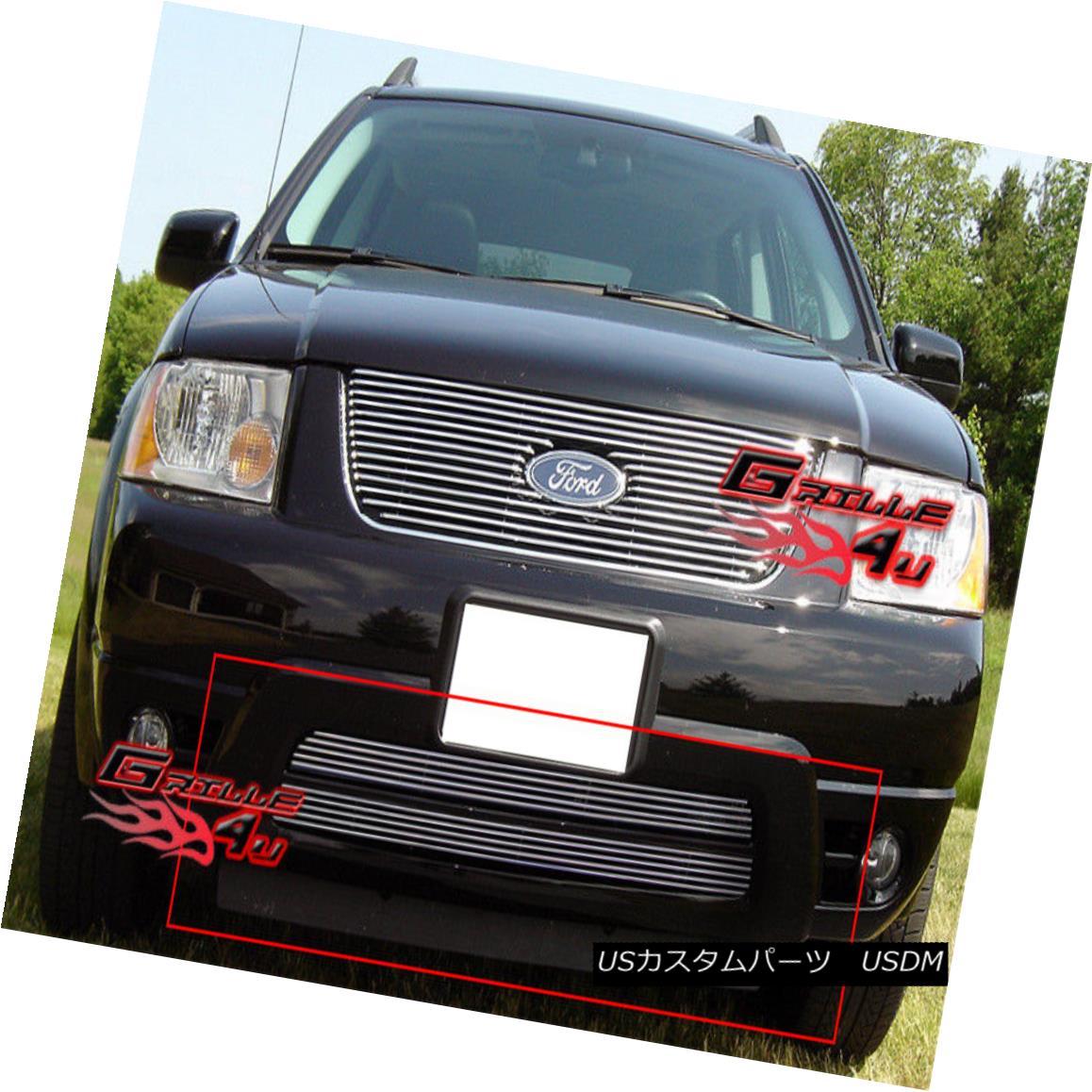 グリル Fits 2005-2006 Ford Freestyle Lower Bumper Billet Grille Insert フィット2005-2006フォードフリースタイルロワーバンパービレットグリルインサート