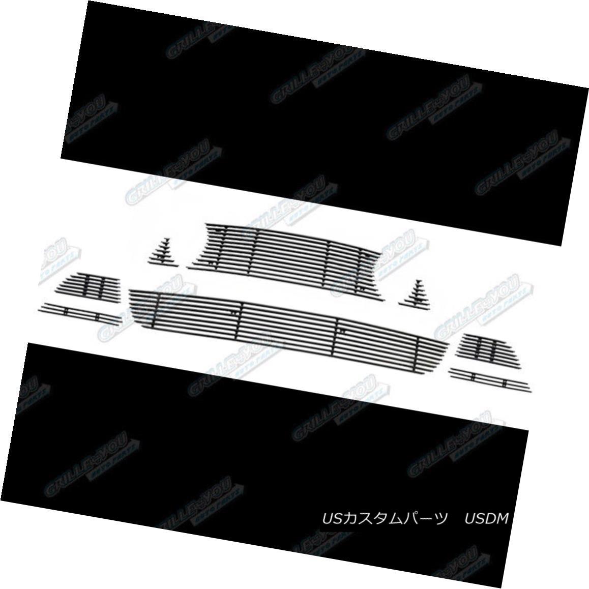 グリル Fits 2013-2014 Ford Mustang GT W/ Fog Cover Black Billet Grille Combo 2013-2014 Ford Mustang GT W /フォグカバーブラックビレットグリルコンボ