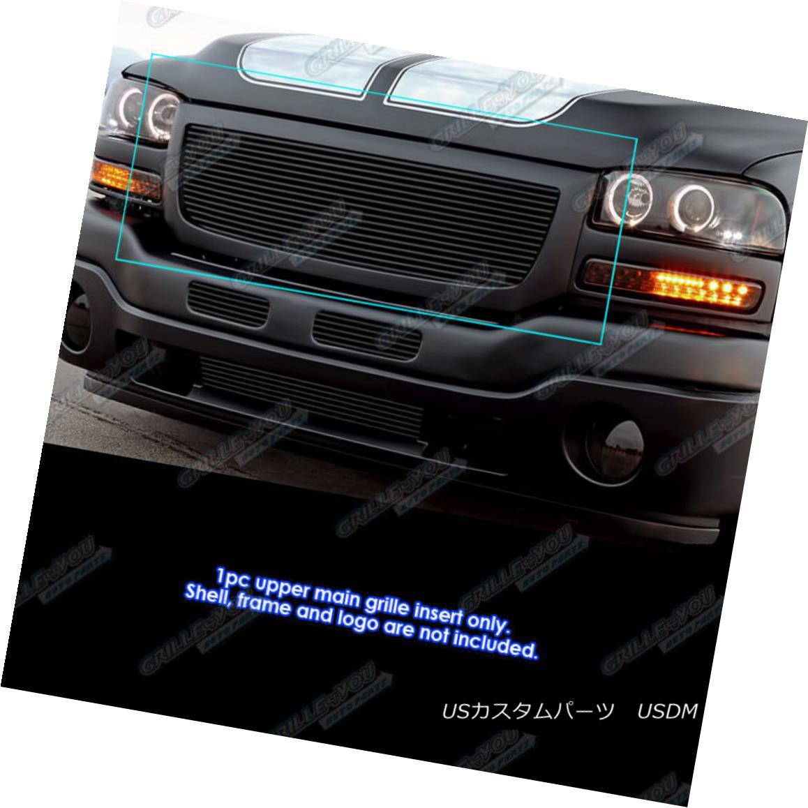 グリル Fits 2003-2007 GMC Sierra 1500/2500HD/3500 Black Billet Grille 2003-2007 GMC Sierra 1500 / 2500HD / 35 00 Black Billet Grilleに適合