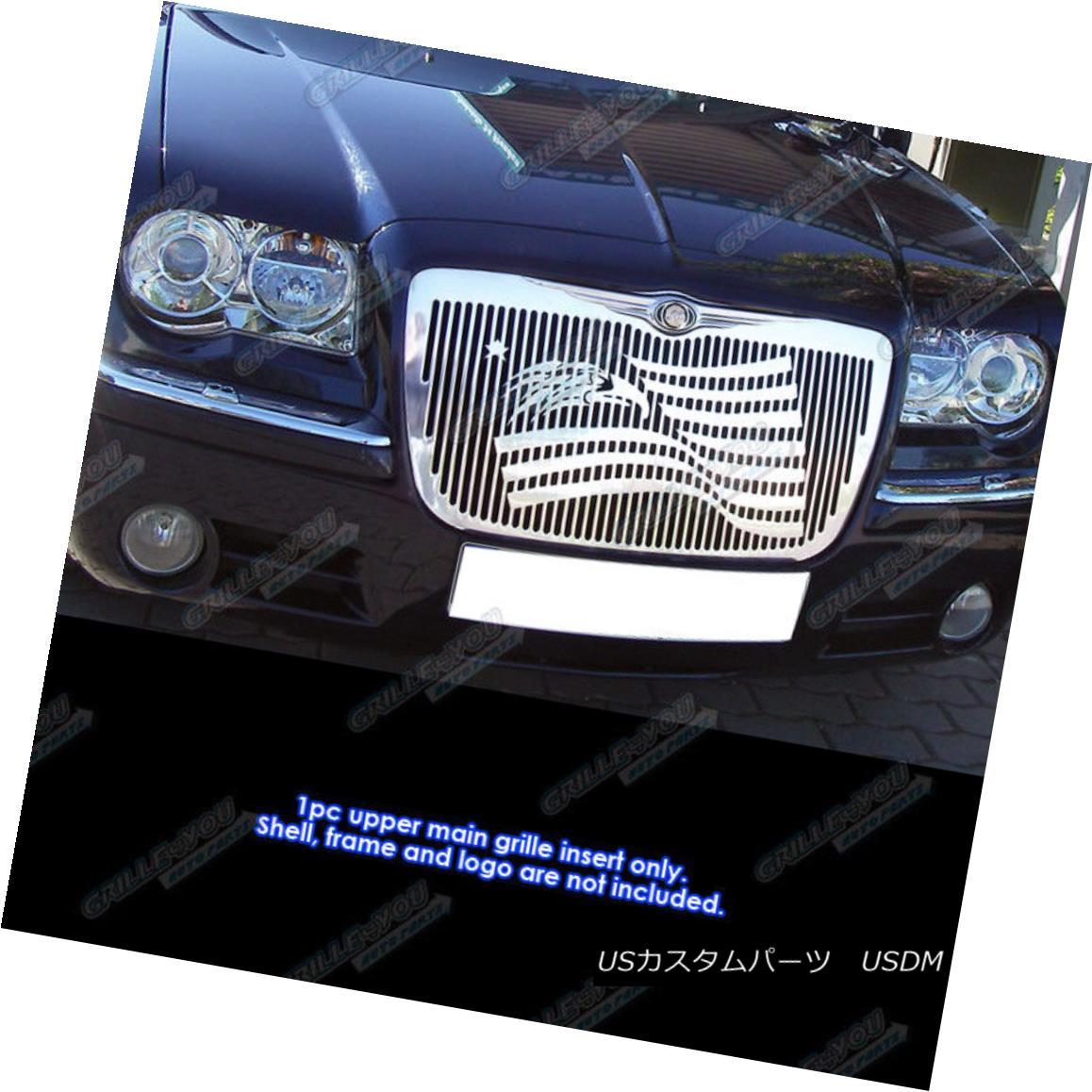 グリル Fits 2005-2010 Chrysler 300/300C Symbolic Grille Insert 2005?2010年のChrysler 300 / 300Cシンボリックグリルインサートに適合