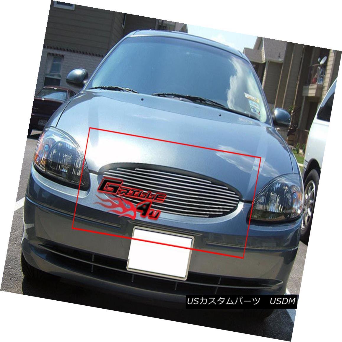 グリル Fits 2000-2003 Ford Taurus Main Upper Billet Grille Insert フィッティング2000-2003 Ford Taurusメインアッパービレットグリルインサート