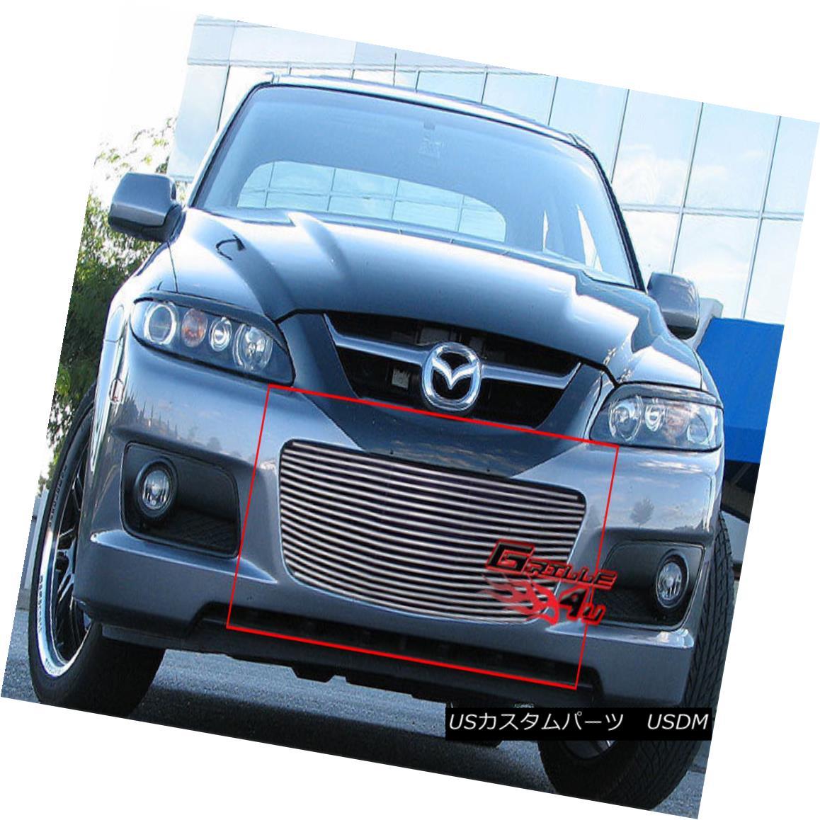 グリル Fits 2006-2007 Mazda Speed 6 Lower Bumper Billet Grille Insert フィット2006-2007マツダスピード6ロワーバンパービレットグリルインサート