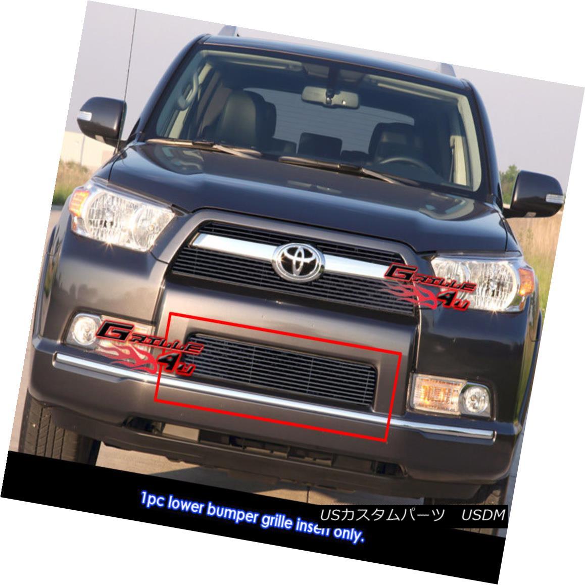 グリル Fits 2010-2013 Toyota 4Runner Black Billet Grille Grill Insert フィット2010-2013トヨタ4Runnerブラックビレットグリルグリルインサート