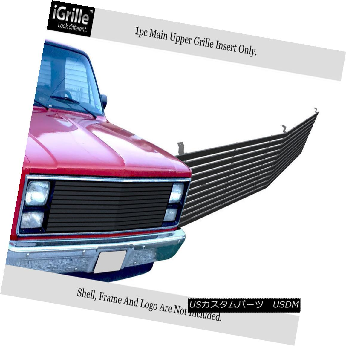 グリル Black Wide Billet Grille Fits 1981-87 Chevy C/K Pickup/Suburban/Blazer ブラック・ワイド・ビレット・グリル・フィット1981-87シボレーC / Kピックアップ/サバーバ n / Blazer