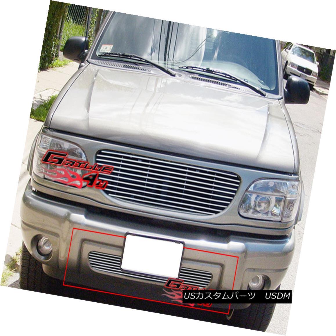 グリル Fits 1999-2001 Ford Explorer Lower Bumper Billet Grille Insert フィット1999-2001フォードエクスプローラーロワーバンパービレットグリルインサート