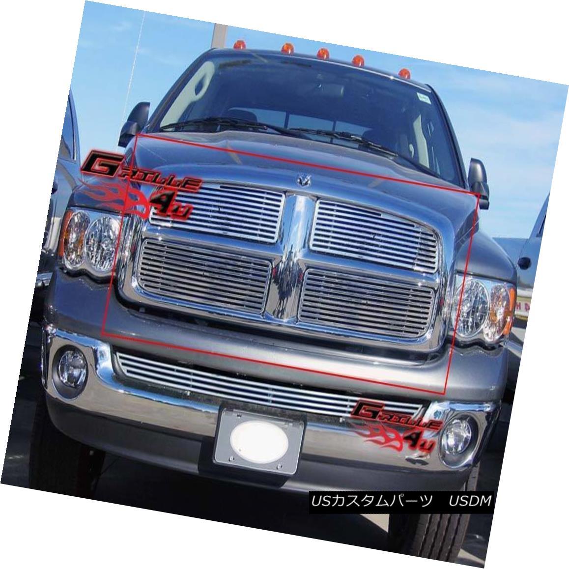 グリル Fits 2002-2005 Dodge Ram Perimeter Grille Insert 2002-2005 Dodge Ramペリメーターグリルインサートに適合