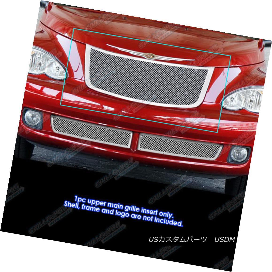 グリル Fits 2006-2010 Chrysler PT Cruiser Stainless Steel Mesh Grille Grill Insert 適合2006-2010クライスラーPTクルーザーステンレススチールメッシュグリルグリルインサート