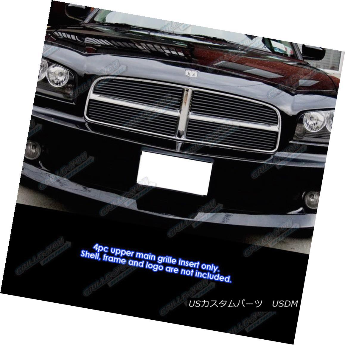 グリル For 2005-2010 Dodge Charger Honeycomb Style Black Billet Grille Grill Insert 2005-2010年ダッジチャージャーハニカムスタイルブラックビレットグリルグリルインサート