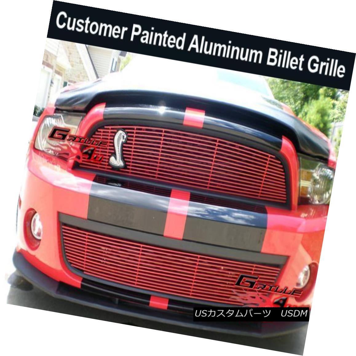 グリル Fits 2010-2011 Ford Mustang Shelby GT500 Billet Grille Combo フィット2010-2011フォードマスタングシェルビーGT500ビレットグリルコンボ