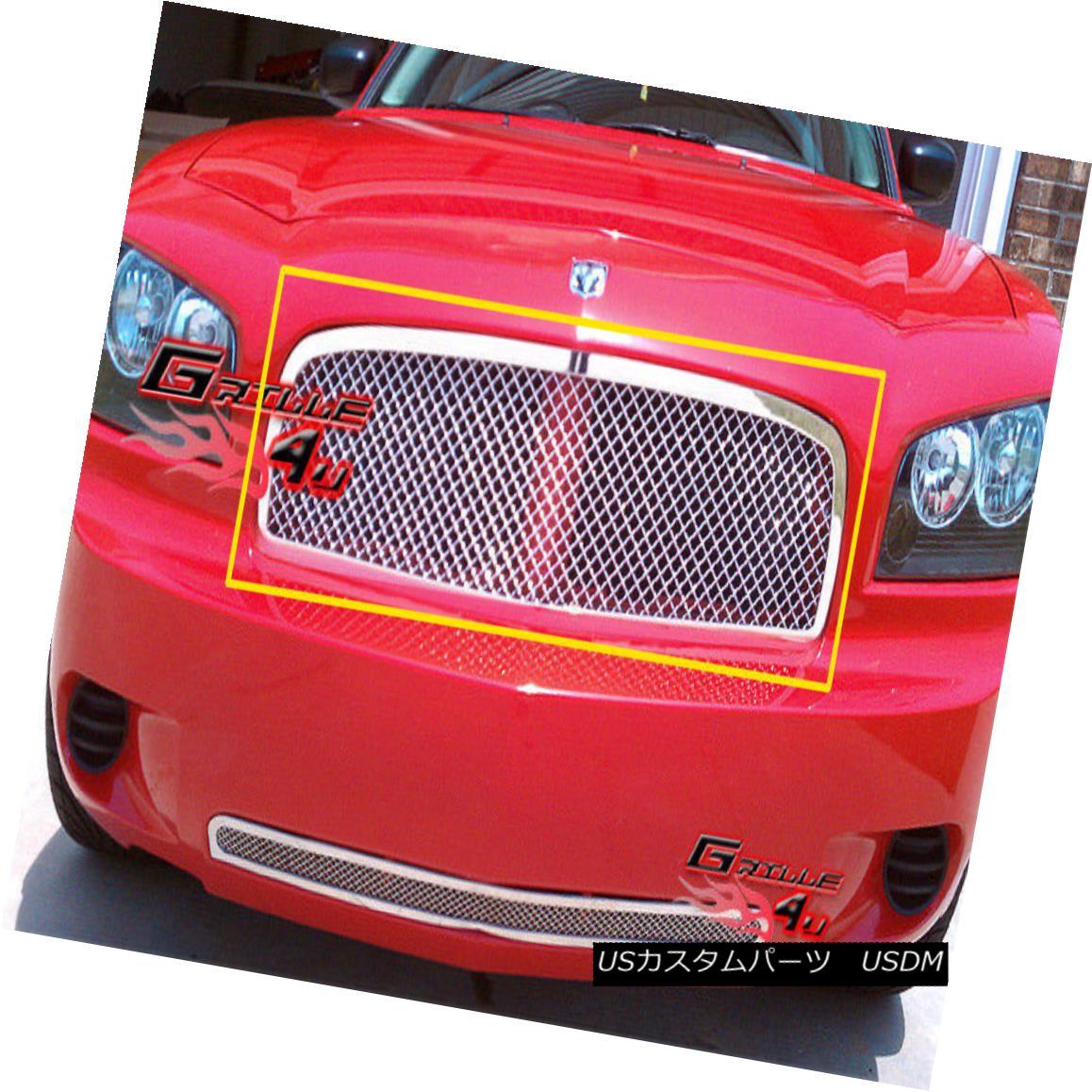 グリル Fits 05-10 Dodge Charger Stainless Steel Mesh Grille Insert フィット05-10ダッジチャージャーステンレスメッシュグリルインサート