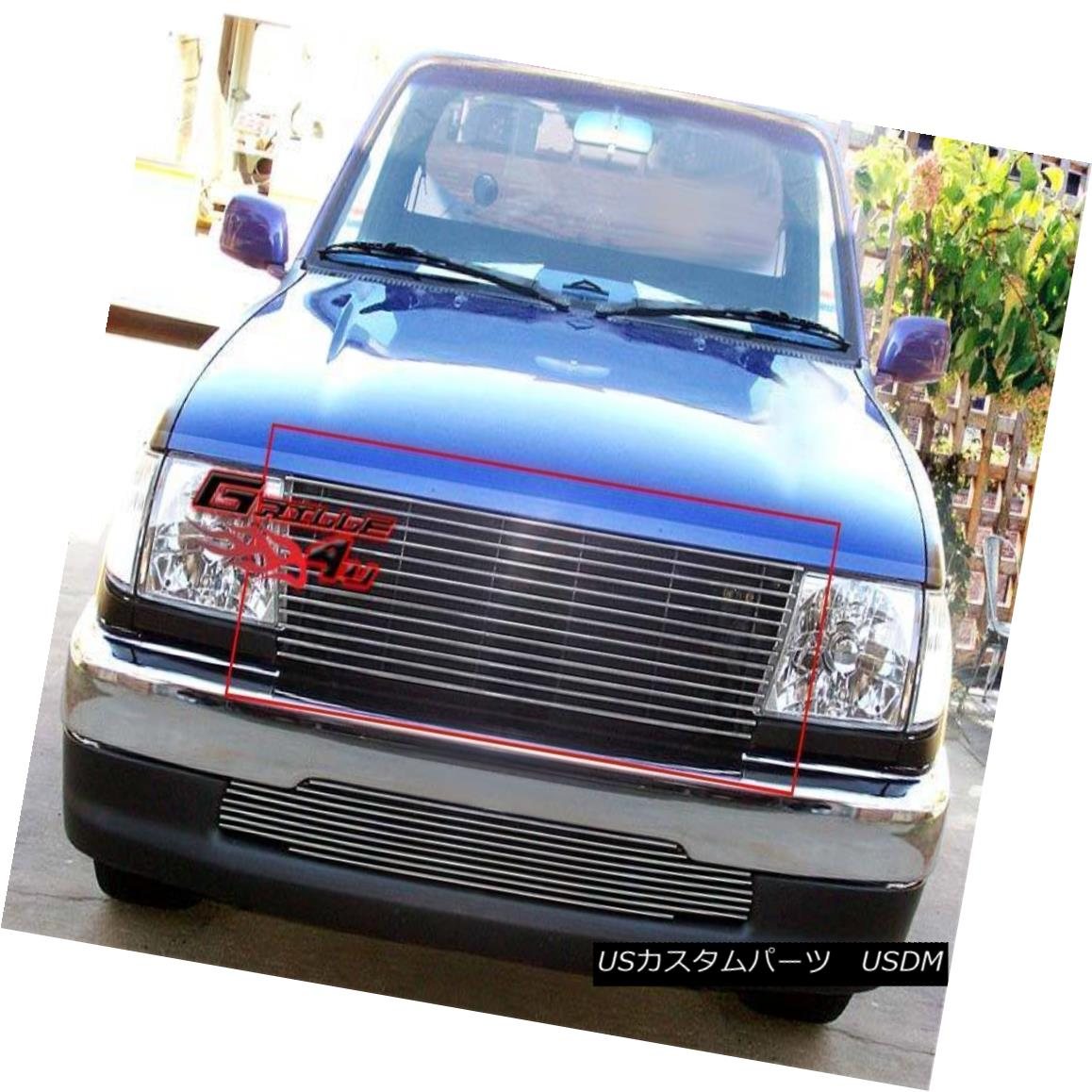 グリル Fits 1997-2000 Toyota Tacoma/ Prerunner Main Upper Billet Grille Insert 1997?2000年に適合トヨタタコマ/プレランナーメインアッパービレットグリルインサート