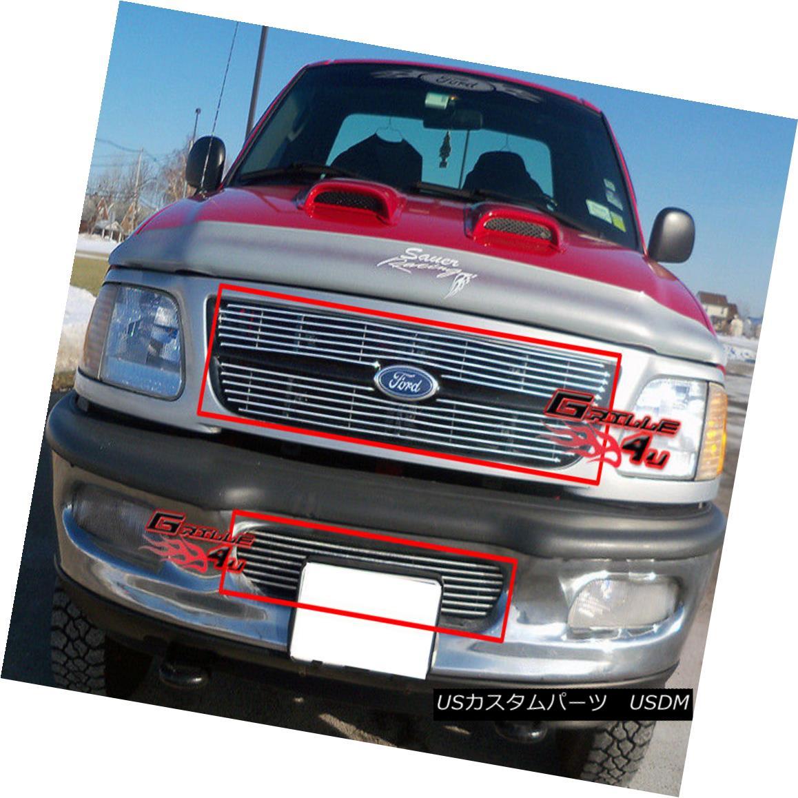 グリル Fits 97-98 Ford F-150 4WD /Expedition Billet Grille Combo フィット97-98フォードF-150 4WD /遠征ビレットグリルコンボ