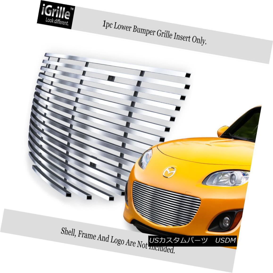 グリル Fits 2009-2012 Mazda MX-5 MX5 Miata Stainless Steel Billet Grille Grill Insert フィット2009-2012マツダMX - 5 MX5 Miataステンレス鋼ビレットグリルグリルインサート