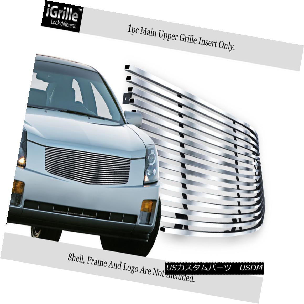 グリル Fits 2003-2007 Cadillac CTS Stainlesss Steel Billet Grille Insert 2003-2007キャデラックCTSステンレス鋼ビレットグリルインサートに適合