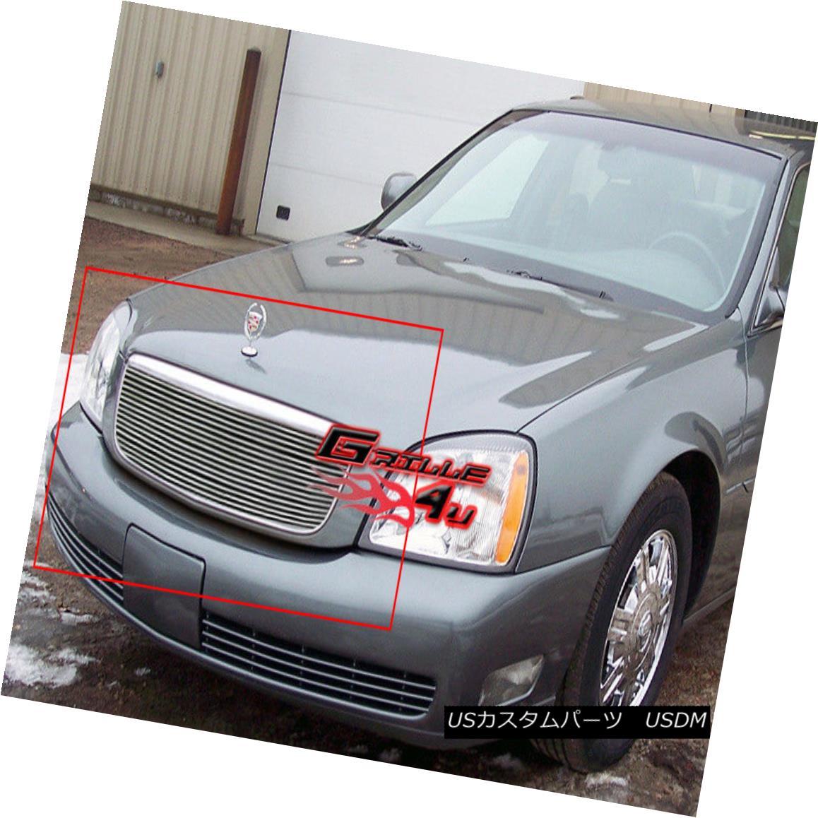 グリル Fits 2000-2005 Cadillac DeVille Main Upper Billet Grille Insert フィット2000-2005キャデラックDeVilleメインアッパービレットグリルインサート