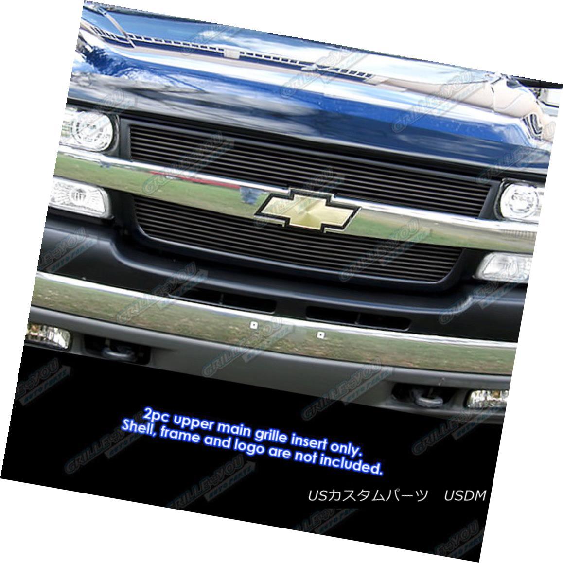 グリル Fits 2001-2002 Chevy Silverado 2500/3500 Black Billet Grille Grill Insert 2001-2002 Chevy Silverado 2500/3500 Black Billetグリルグリルインサート