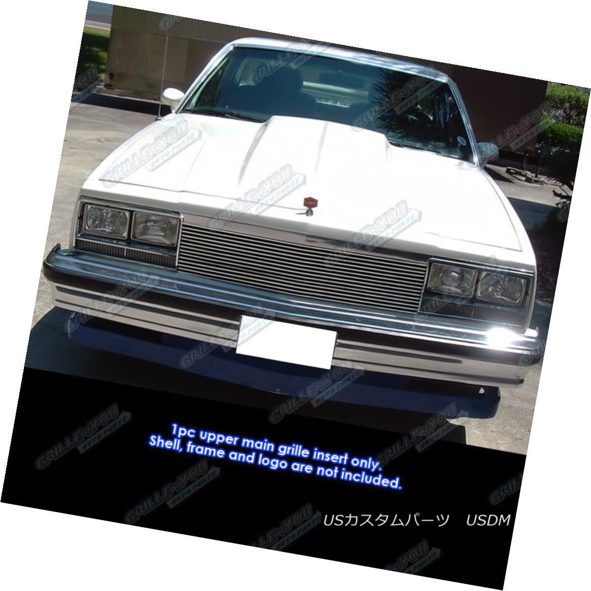 グリル Fits 1982-1987 Chevy EL Camino/82-83 Malibu Billet Grille Insert フィット1982-1987シェビーELカミノ/ 82-83マリブビレットグリルインサート