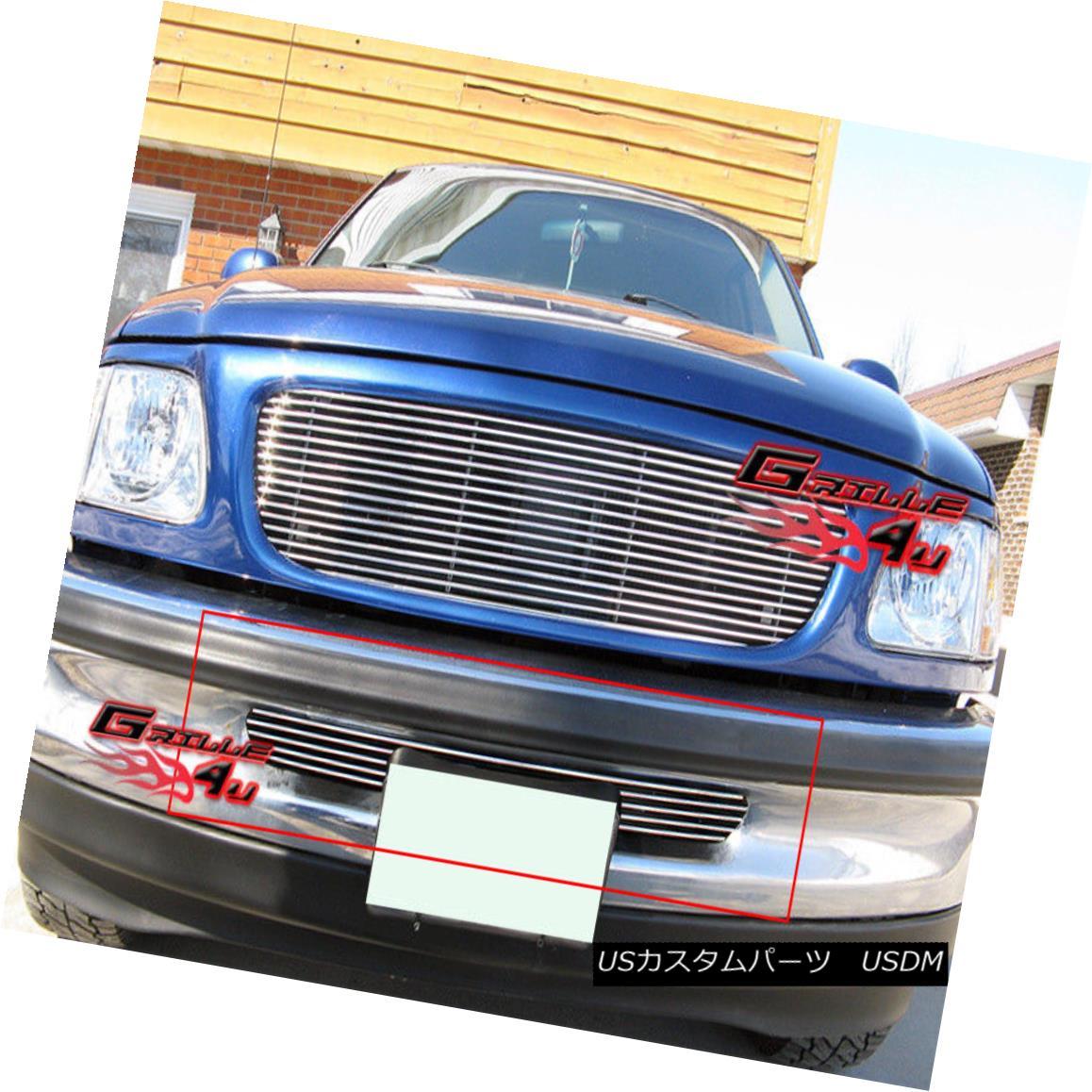 グリル Fits 97-98 Ford F-150 2WD Lower Bumper Billet Grille Insert フィット97-98 Ford F-150 2WDロワーバンパービレットグリルインサート
