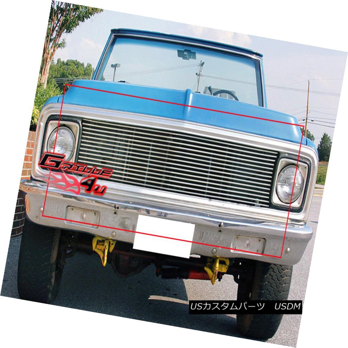 グリル Fits 1969-1972 Chevy C/K Pickup/Suburban/Blazer Billet Grille フィット1969-1972 Chevy C / Kピックアップ/サブバ n / Blazer Billet Grille