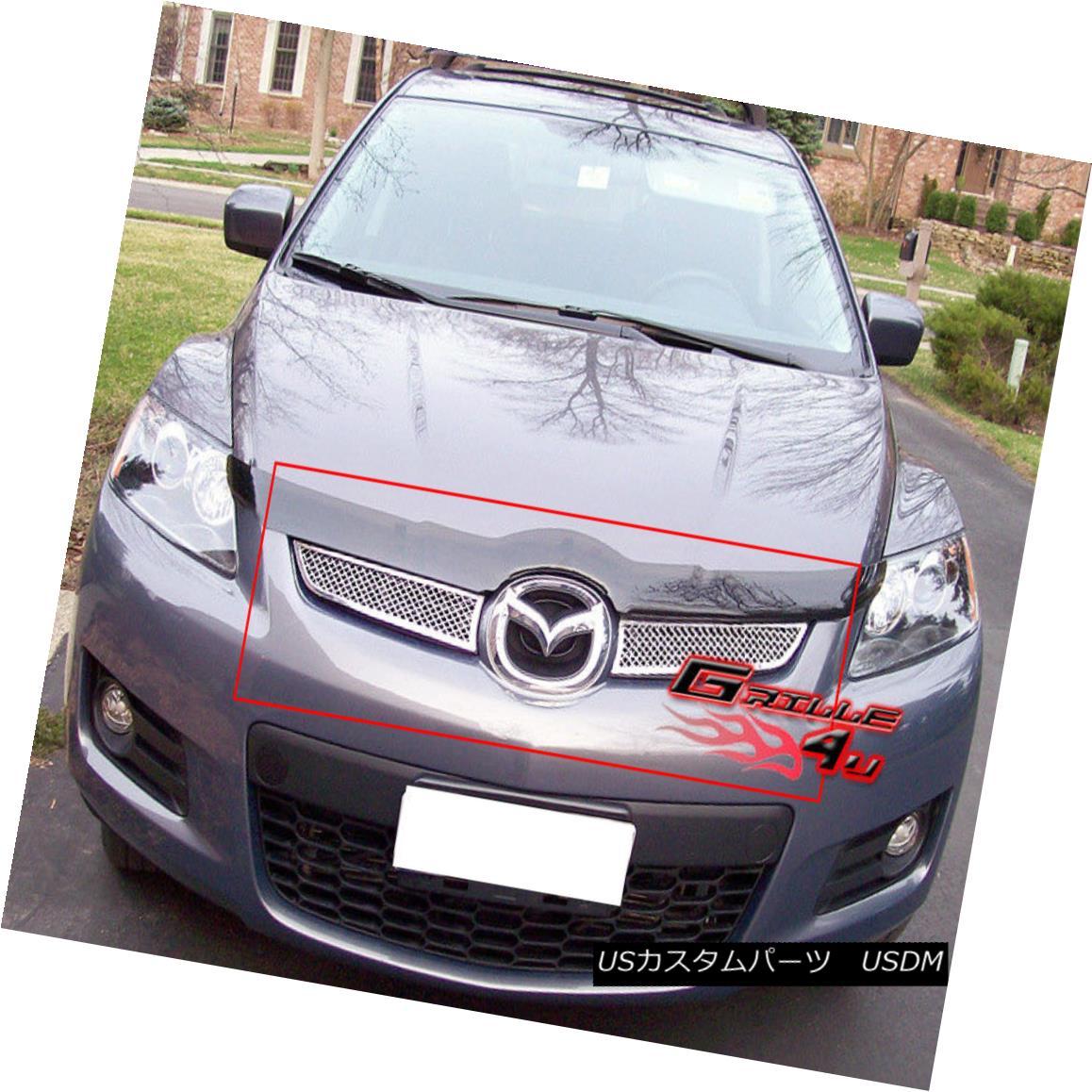 グリル Fits 2007-2009 Mazda CX-7 Stainless Mesh Grille Insert 2007-2009マツダCX-7ステンレスメッシュグリルインサートに適合