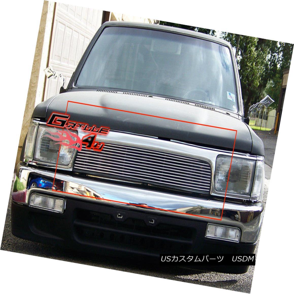 グリル Fits 92-95 Toyota 4Runner 4 Runner Main Upper Billet Grille Insert フィット92-95トヨタ4ランナー4ランナーメインアッパービレットグリルインサート
