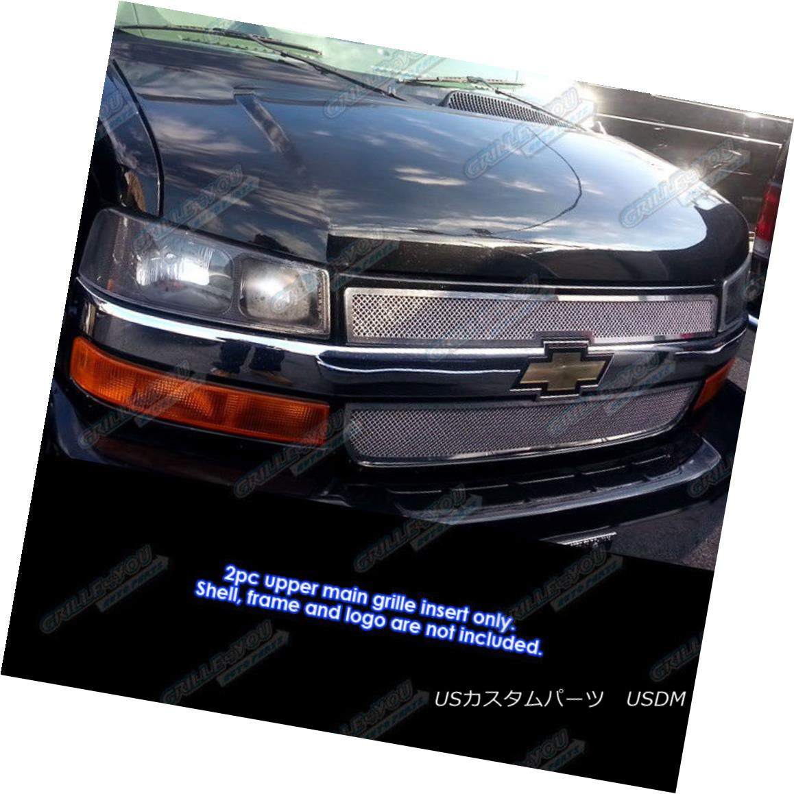 グリル For 2003-2016 Chevy Explorer Conversion Van Stainless Steel Mesh Grille 2003-2016シボレーエクスプローラ変換ヴァンステンレスメッシュグリル用