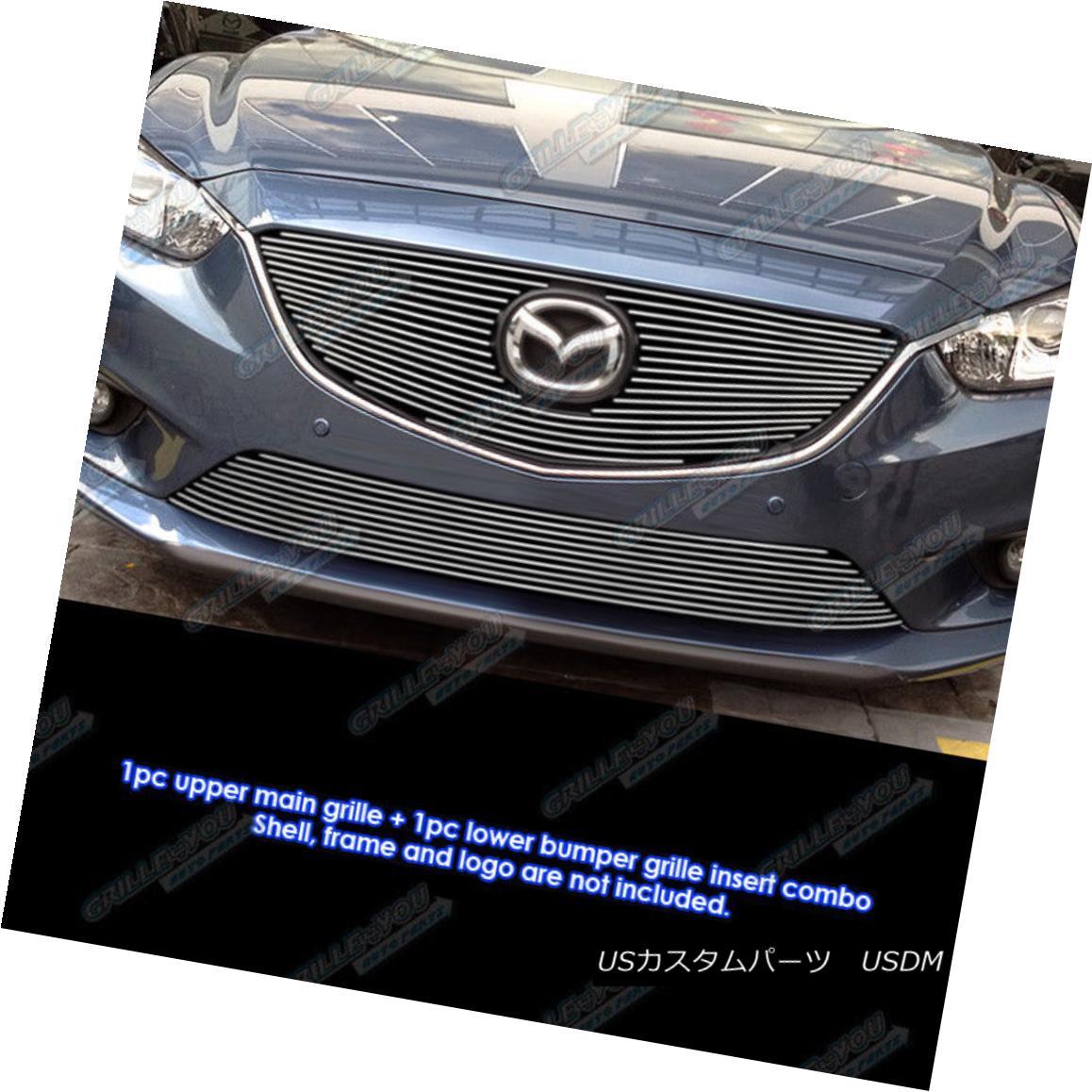 グリル Fits 2013-2015 Mazda 6 Billet Grille Combo フィット2013-2015マツダ6ビレットグリルコンボ