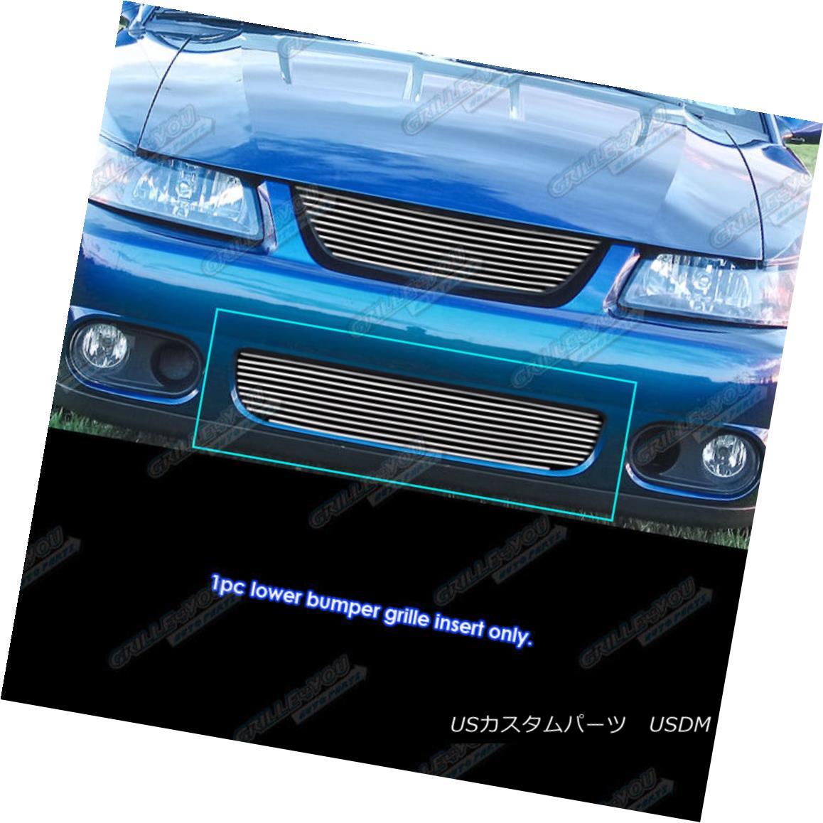 グリル Fits 2003-2004 Ford Mustang SVT Cobra Lower Bumper Billet Grille Insert フィット2003-2004フォードマスタングSVTコブラロワーバンパービレットグリルインサート
