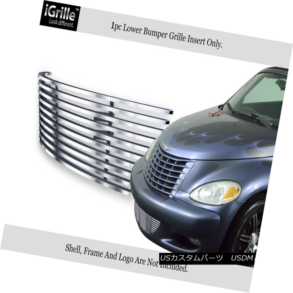 グリル Fits 2000-2005 Chrysler PT Cruiser Bumper Stainless Steel Billet Grille Insert 適合2000-2005クライスラーPTクルーザーバンパーステンレス鋼ビレットグリルインサート