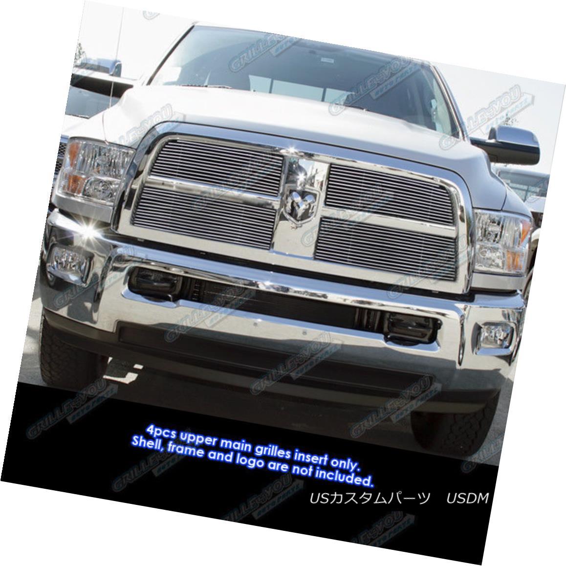 グリル Fits 2010-2012 Dodge Ram 2500/3500 Billet Grille Grill Insert フィット2010-2012ダッジラム2500/3500ビレットグリルグリルインサート