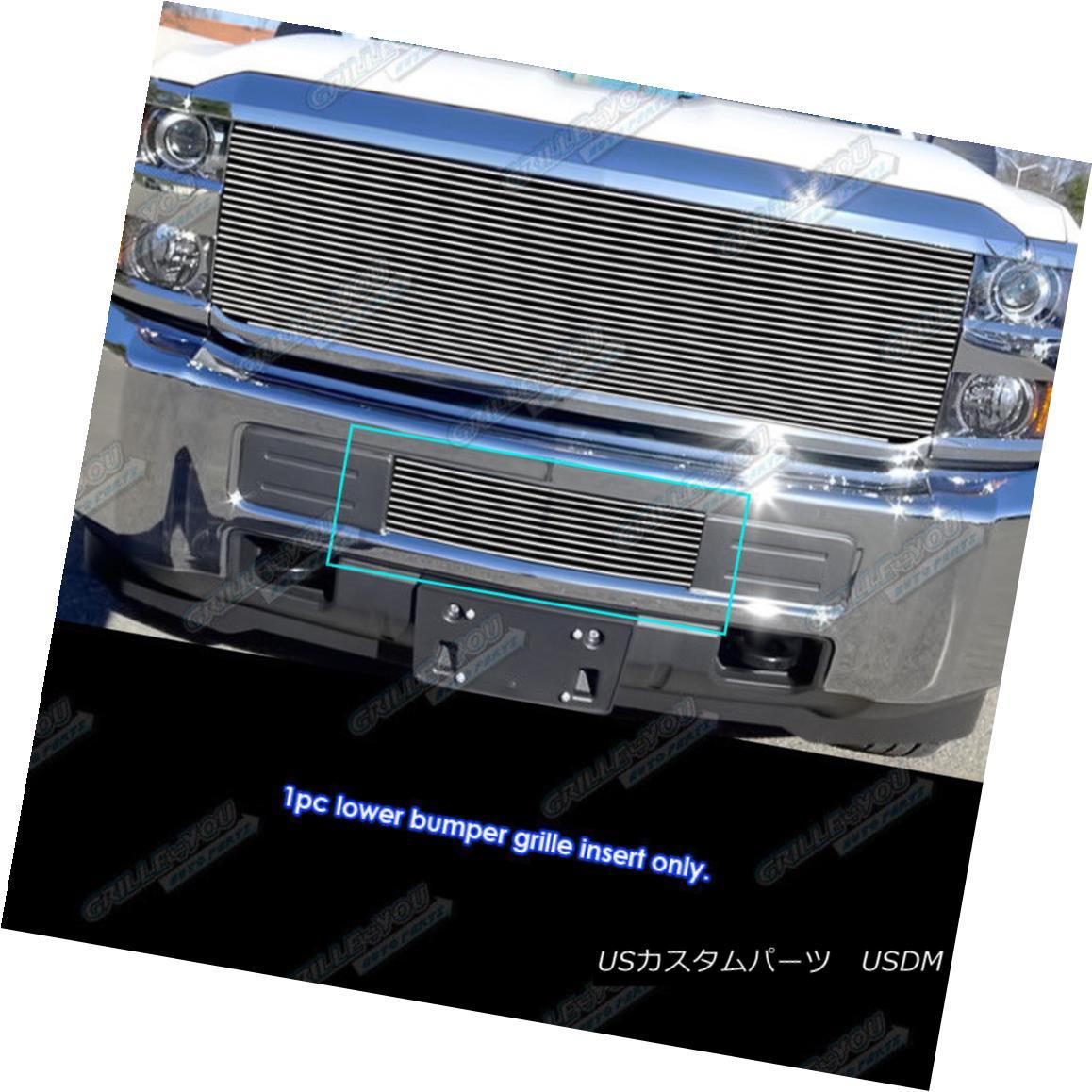 グリル Fits 2015-2017 Chevy 2500HD/ 3500HD Bumper Billet Grille Insert フィット2015-2017 Chevy 2500HD / 3500HDバンパービレットグリルインサート