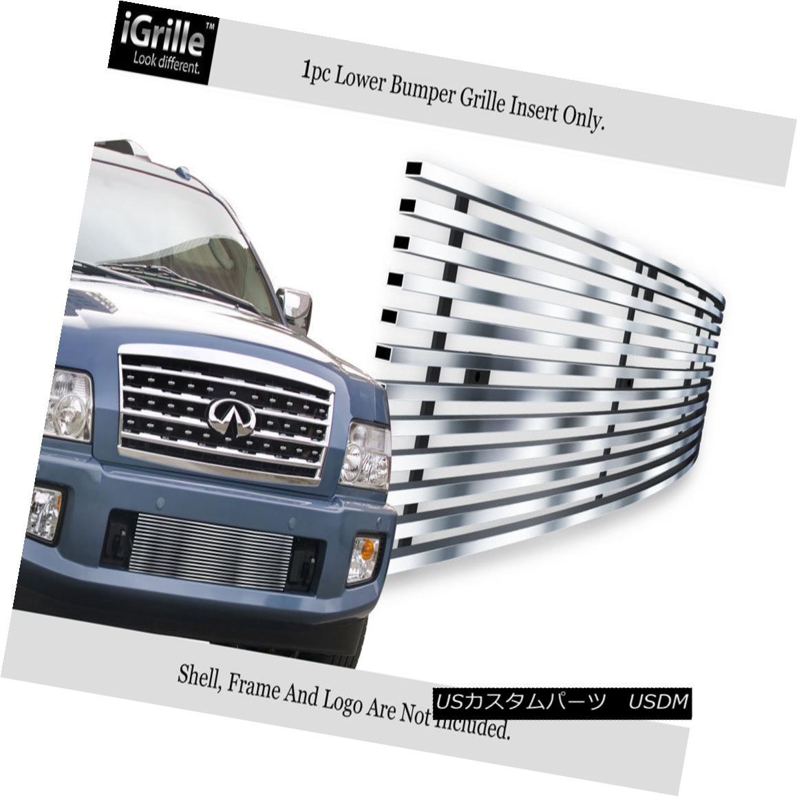 グリル Fits 2004-2010 Infiniti QX56 Bumper Stainless Steel Billet Grille Insert フィット2004年?2010年インフィニティQX56バンパーステンレス鋼ビレットグリルインサート