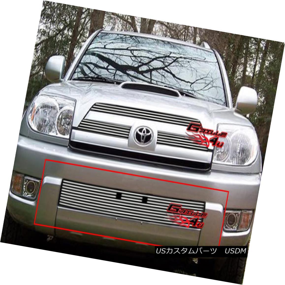 グリル Fits 2003-2005 Toyota 4Runner Bumper Billet Grille Insert フィット2003-2005トヨタ4Runnerバンパービレットグリルインサート
