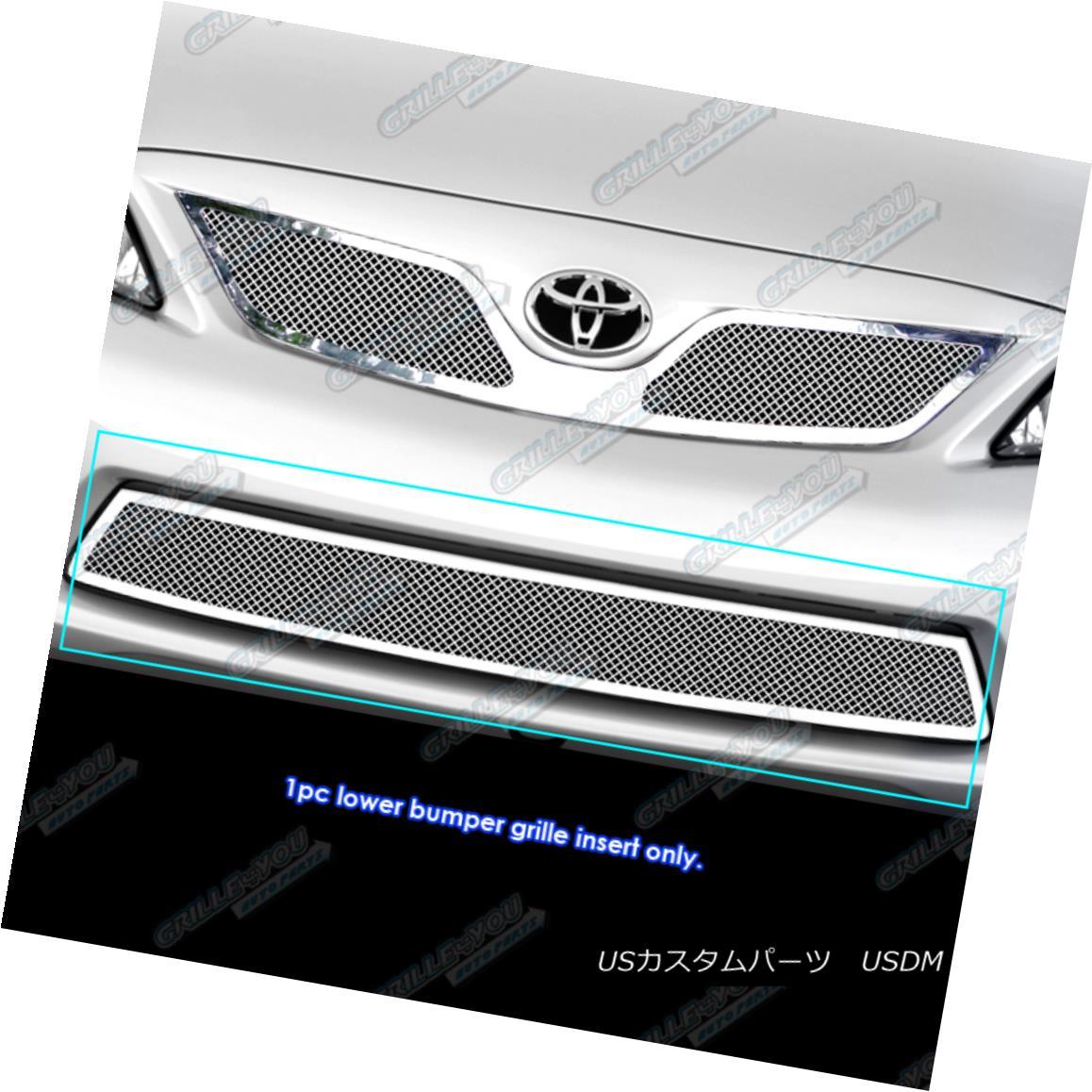 グリル Fits 2011-2013 Toyota Corolla Stainless Steel Bumper Mesh Grille Grill Insert 2011-2013トヨタカローラステンレスバンパーメッシュグリルグリルインサート